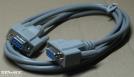 RS232, 9p. anya-anya, null modem kábel, 2m