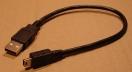 USB A/USB B mini 5p. kábel, 0,3m