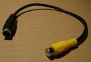 S-video/RCA átalakító kábel, 0,2m