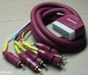 Scart - 6 RCA kábel, 1,5m