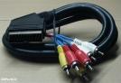 Scart - 6 RCA kábel, 2m